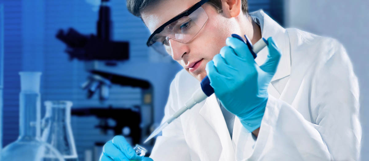 Researcher at Work (Stock Image)