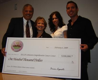 Par for the Cure 2008 check presentation