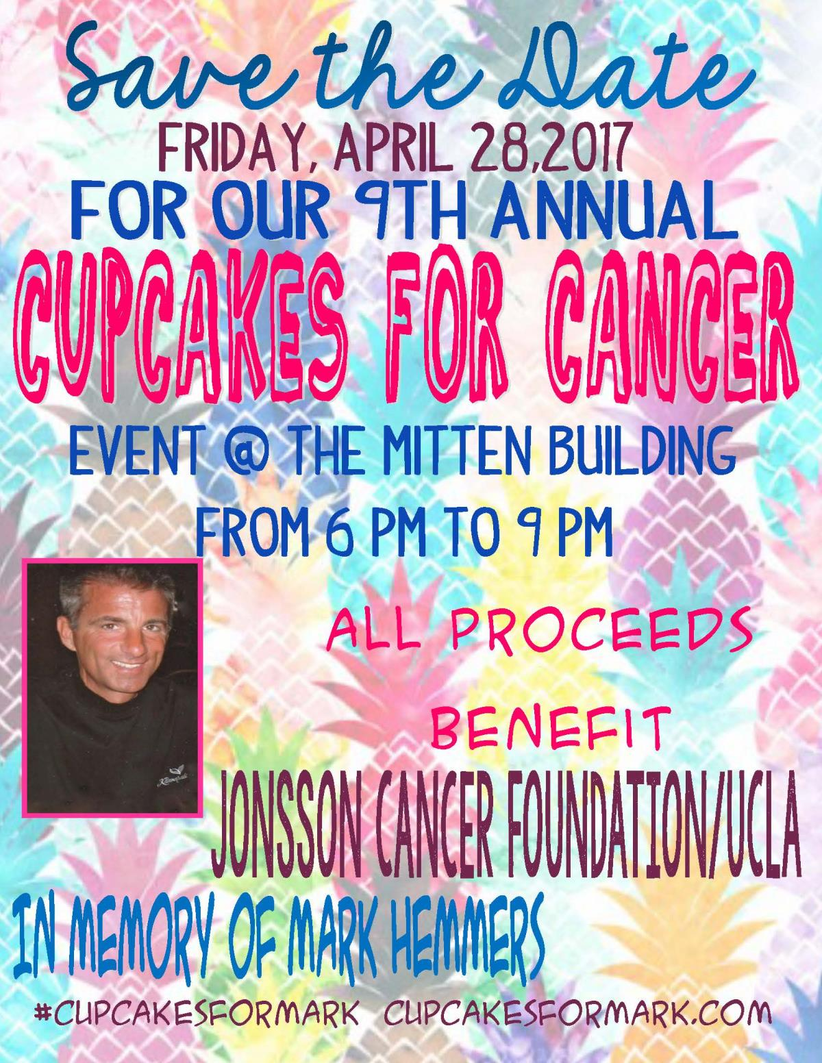 Cupcakes for Cancer_pineapple background save date
