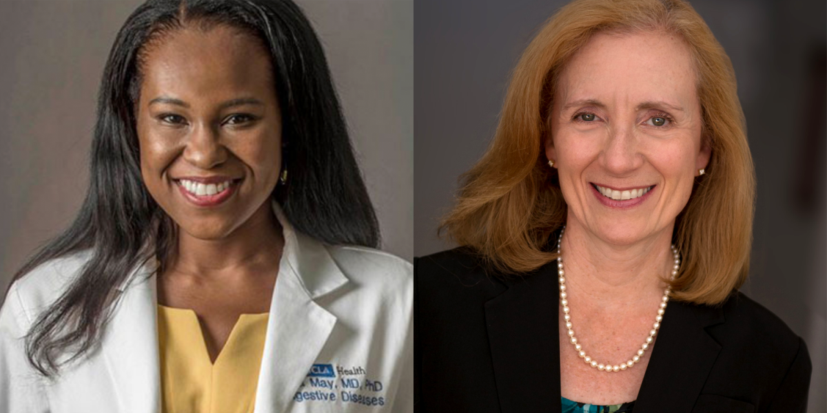 Image of UCLA cancer researchers Drs. Fola May and Carol Mangione